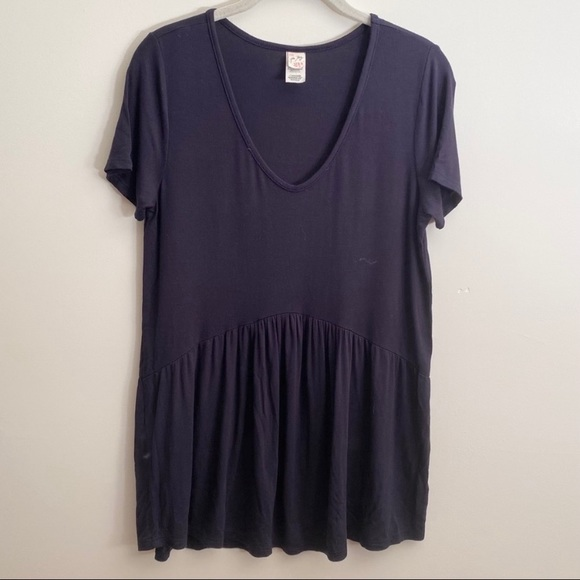 7th Ray Navy Peplum T-shirt